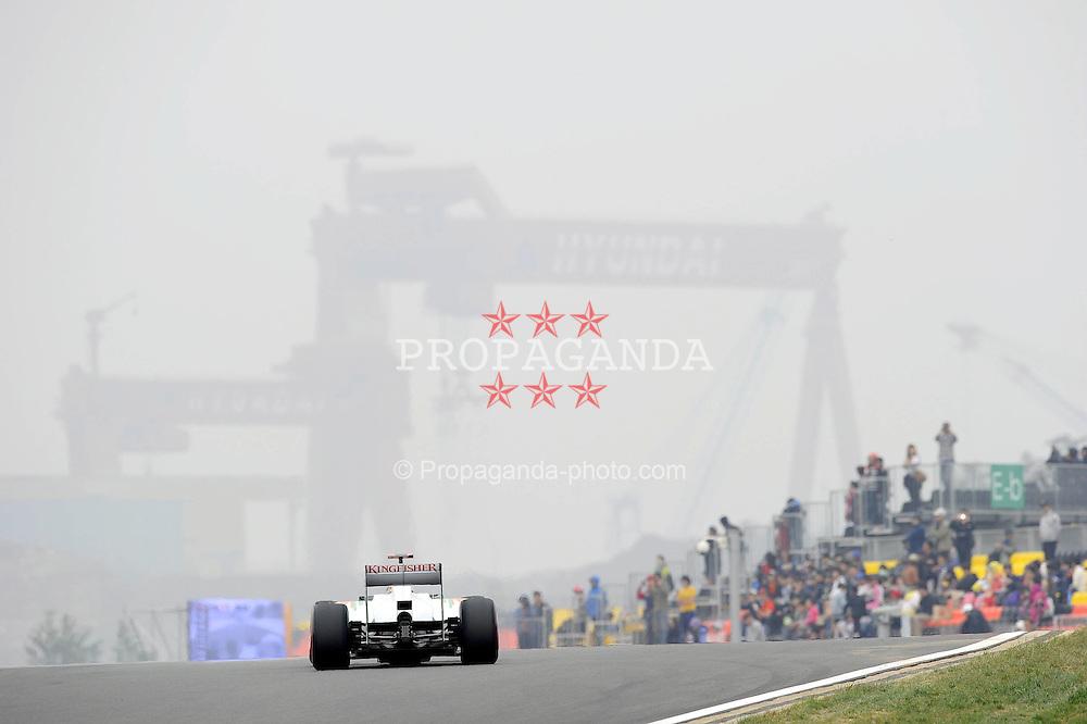 15.10.2011, Korea-International-Circuit, Yeongam, KOR, F1, Großer Preis von Südkorea, Yeongam, im Bild Adrian Sutil (GER), Force India Formula One Team // during the Formula One Championships 2011 Large price of Korea held at the Korea-International-Circuit, 2011-10-15  EXPA Pictures © 2011, PhotoCredit: EXPA/ nph/  Dieter Mathis        ****** only for AUT, POL & SLO ******