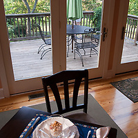 Breakfast setting at Arkady Bed and Breakfast in Charlottesville, VA.