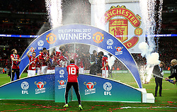 Manchester United celebrate lifting the EFL Trophy - Mandatory by-line: Matt McNulty/JMP - 26/02/2017 - FOOTBALL - Wembley Stadium - London, England - Manchester United v Southampton - EFL Cup Final