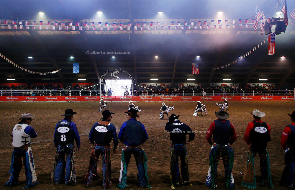 Italy, Voghera, Cowboys ranch: prize-giving after the competition  .Cowboys show and contest.