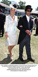 LADY GABRIELLA WINDSOR daughter of Prince & Princess Michael of Kent and her boyfriend AATISH TASEER, at Royal Ascot on 16th June 2004.PWF 147