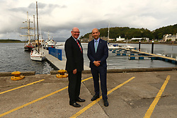 Ben macpherson minister for migration with Cleland Sneddon Chief Exec Argyll and Bute Council North Pier Oban new pontooons . on the ministers visit to      Argyll and Bute  picture kevin mclynn