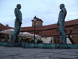 CZECH REPUBLIC PRAGUE 15JUN13 - Statues of two men urinating in Mala Strana, Prague.<br /> <br /> <br /> <br /> jre/Photo by Jiri Rezac<br /> <br /> <br /> <br /> &copy; Jiri Rezac 2013