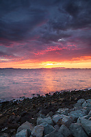 Sunset Over San Francisco Bay, Alameda, California