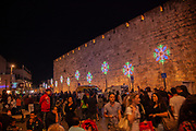Audio Visual presentation on the walls and buildings of the Old City of Jerusalem, Israel