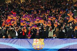 Barcelona fans wave flags before kick off - Mandatory by-line: Matt McNulty/JMP - 14/03/2018 - FOOTBALL - Camp Nou - Barcelona, Catalonia - Barcelona v Chelsea - UEFA Champions League - Round of 16 Second Leg