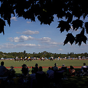 'A Day at the Polo'<br /> Spectators watch the action during the International Polo Test match between Australia and England at the Windsor Polo Club, Richmond, Sydney, Australia on March 29, 2009. Australia won the match 8-7.  Photo Tim Clayton