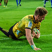 WELLINGTON, NEW ZEALAND - 23 MARCH: Action during the super rugby union game played on 23 March 2019, between Hurricanes v Stormers, played at Westpac Stadium, Wellington, New Zealand. Final score 34-28 to Hurricanes.