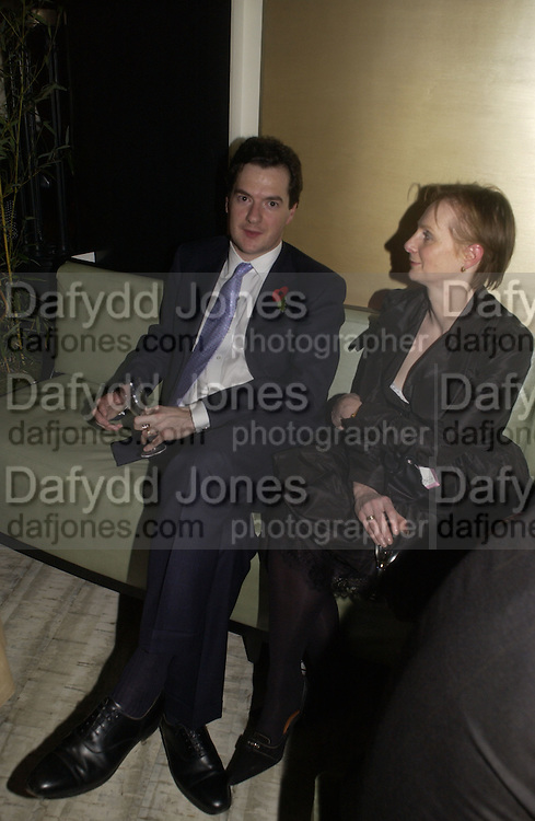 George Osborne, The Vogue Winter party to celebrate the Vogue List. Nobu Berkeley. London.   8 November 2005 . ONE TIME USE ONLY - DO NOT ARCHIVE © Copyright Photograph by Dafydd Jones 66 Stockwell Park Rd. London SW9 0DA Tel 020 7733 0108 www.dafjones.com