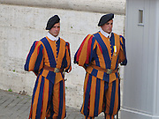 Italy, Rome, interior of the Basilica st peter Swiss Guards