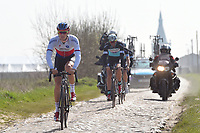 Zdenek STYBAR (Cze) Team Etixx Quick-Step (Bel) training on april 10 prior to the famous cycling race Paris Roubaix with paving stones paths which will take place on april 12, 2015 - Photo Tim de Waele / DPPI