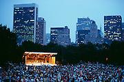 NY Philharmonic concert, Central Park, New York City.