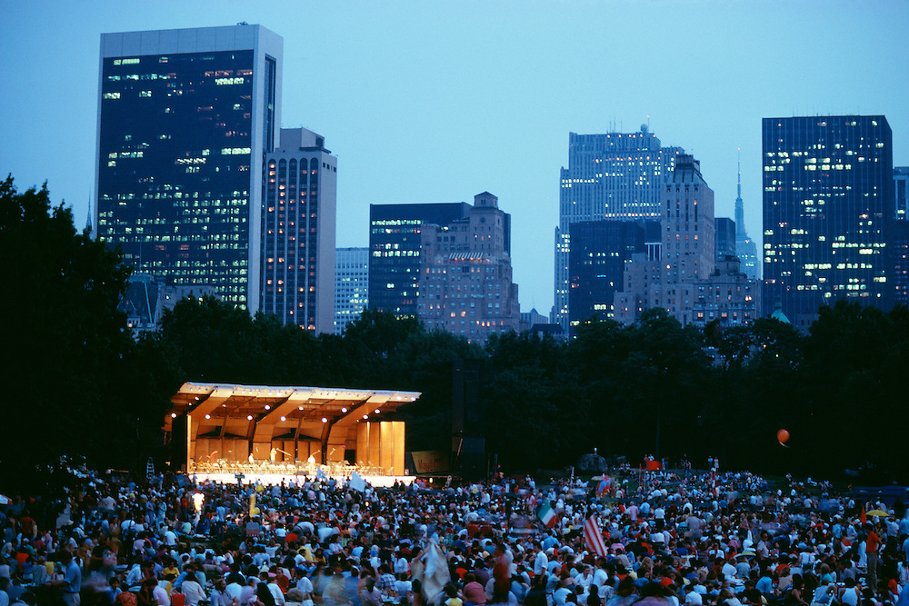 NY Philharmonic concert, Central Park, New York City.