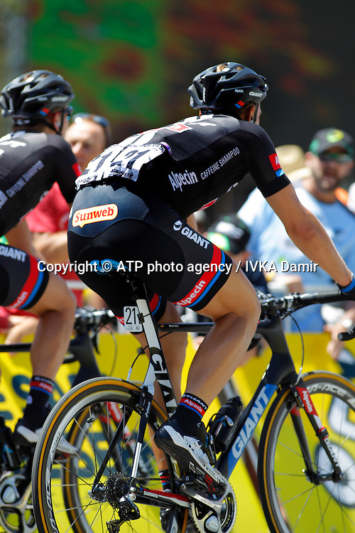 2015 Santos Tour Down Under. Adelaide. Australia. 24.1.2015. Stage 5. Mc Laren Vale to Willunga Hill.151.5km<br /> #21 Marcel KITTEL (GER) Team GIANT-ALPECIN (NED). <br /> - Tour Down Under Australia 2015, Cycling, road race, Radrennen, Australien -  Radsport - Rad Rennen <br /> - fee liable image: copyright &copy; ATP - IVKA Damir