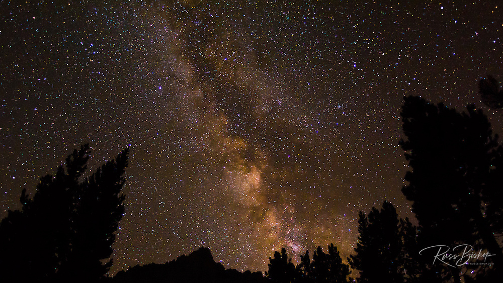 The Milky Way over the Palisades, John Muir Wilderness, Sierra Nevada Mountains, California