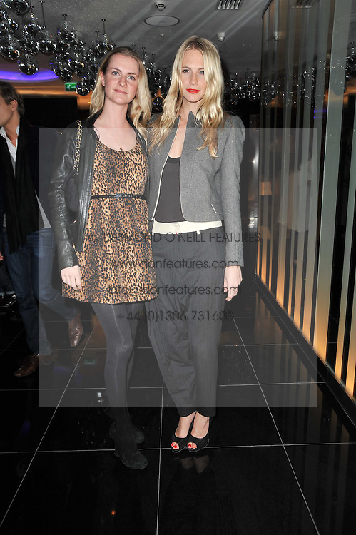 Left to right, sisters CHLOE DELEVINGNE and POPPY DELEVINGNE at a party to celebrate the 15th birthday of Vogue.com held at W Hotel, Leicester Square, London W1 on 17th February 2011.