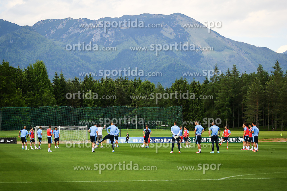 Players during practice session of Slovenian Football Team practice session of Slovenian National Team before game against Sweden, on May 26, 2016 in Football centre Brdo pri Kranju, Slovenia. Photo by Ziga Zupan / Sportida