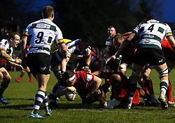 Jason Harris-Wright of Bristol Rugby scores a try - Mandatory by-line: Robbie Stephenson/JMP - 06/04/2018 - RUGBY - The Bay - Nottingham, England - Nottingham Rugby v Bristol Rugby - Greene King IPA Championship