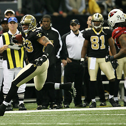 2007 December, 16: New Orleans Saints tight end Billy Miller (83) runs after a catch during a 31-24 win by the New Orleans Saints over the Arizona Cardinals at the Louisiana Superdome in New Orleans, LA.