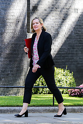 © Licensed to London News Pictures. 23/07/2019. London, UK. Secretary of State for Work and Pensions Amber Rudd arrives in Downing Street to attend Theresa May's final Cabinet meeting. Photo credit: Dinendra Haria/LNP