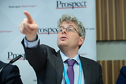 "© Licensed to London News Pictures . 01/10/2018. Birmingham, UK. Tom Clark of Prospect . Prospect magazine fringe event titled "" Beyond tariffs where are our opportunities to boost trade post-Brexit "" , supported by Associated British Ports . Day 2 of the Conservative Party conference at the ICC in Birmingham . Photo credit: Joel Goodman/LNP"