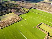 Nederland, Friesland, Gemeente Gaasterlan-Sleat, 16-04-2012; Gaasterland, onderdeel van Nationaal Landschap Zuidwest Fryslan. Lycklemabosch (Lycklemabos) en Nijemirdumer heide. De oorspronkelijk heide is verdwenen, de bossen zijn in de 17e eeuw aangelegde productiebossen..Southwest Friesland..luchtfoto (toeslag), aerial photo (additional fee required).foto/photo Siebe Swart