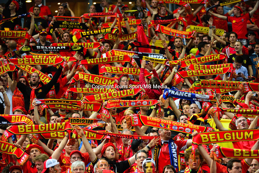 Supporters Belgique - 07.06.2015 - France / Belgique - Match Amical<br /> Photo : Dave Winter / Icon Sport