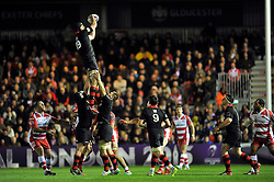 Fraser McKenzie of Edinburgh Rugby wins the ball at a lineout - Photo mandatory by-line: Patrick Khachfe/JMP - Mobile: 07966 386802 01/05/2015 - SPORT - RUGBY UNION - London - The Twickenham Stoop - Edinburgh Rugby v Gloucester Rugby - European Rugby Challenge Cup Final