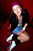 Jenny at Roller Disco, Bagley's Studios , London, 1990s.