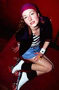 Jenny at Roller Disco, Bagley's Studios , London, 1990s.