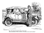 "P. C. ""You were doing forty miles an hour, Sir."" Motorist (whispering). ""Make it seventy; I'm trying to sell him the thing."""