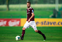 Ožbej Kuhar of Triglav during football match between NK Triglav and NK Celje in 7th Round of Prva liga Telekom Slovenije 2019/20, on August 25, 2019 in Sports park, Kranj, Slovenia. Photo by Vid Ponikvar / Sportida