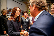 24-9-2018 NEW YORK - Crownprincess Mary opens the new office of Henning Larsen ROBIN UTRECHT