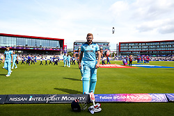 Jonny Bairstow of England prepares to open the batting against Afghanistan - Mandatory by-line: Robbie Stephenson/JMP - 18/06/2019 - CRICKET- Old Trafford - Manchester, England - England v Afghanistan - ICC Cricket World Cup 2019 group stage