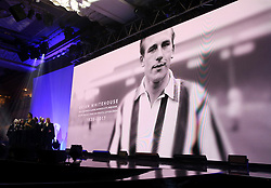A tribute to Brian Whitehouse on the big screen during the Professional Footballers' Association Awards 2017 at the Grosvenor House Hotel, London