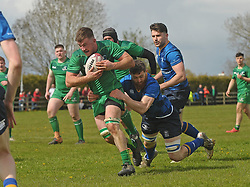 Stephen Joyce makes a break for Connacht juniors during the interprovincial clash against Leinster at the Green Ballinrobe on saturday last.<br /> Pic Conor McKeown