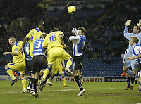 Photo: Aidan Ellis.<br /> Sheffield Wednesday v Cardiff City. Coca Cola Championship. 09/11/2005.<br /> Cardiff's Cameron Jerome heads in the second goal