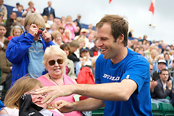 Liverpool, England - Saturday, June 16, 2007: Greg Rusedski meets the fans after withdrawing with an injured shoulder from the Liverpool International Tennis Tournament at Calderstones Park. For more information visit www.liverpooltennis.co.uk. (Pic by David Rawcliffe/Propaganda)