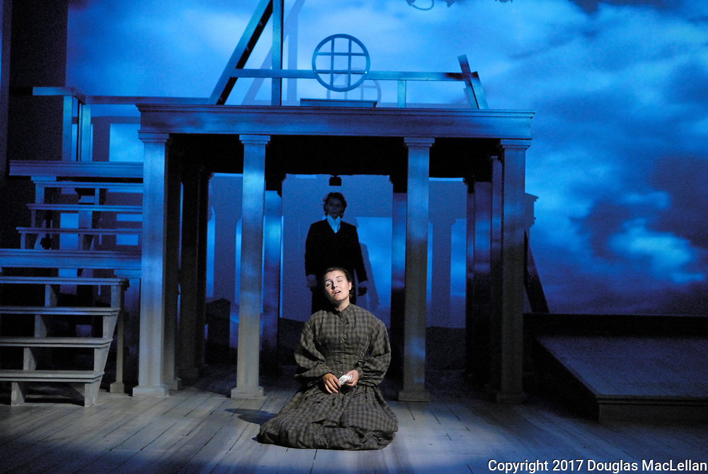 "CANADA. 2017. University Players production of ""Jane Eyre"". Novel by Charlotte Bronte. Adapted by Polly Teale. Directed by Brian Taylor."