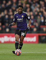 West Ham's Alex Song in action during the FA Cup fourth round match between Bristol City and West Ham United at Ashton Gate on 25 January 2015 in Bristol, England - Photo mandatory by-line: Paul Knight/JMP - Mobile: 07966 386802 - 25/01/2015 - SPORT - Football - Bristol - Ashton Gate - Bristol City v West Ham United - FA Cup fourth round
