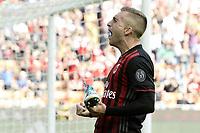 esultanza gol Gerard Deulofeu goal celebration<br /> Milano 09-04-2017, Stadio Giuseppe Meazza, Football Calcio 2016/2017 Serie A, Milan - Palermo, Foto Image Sport/Insidefoto