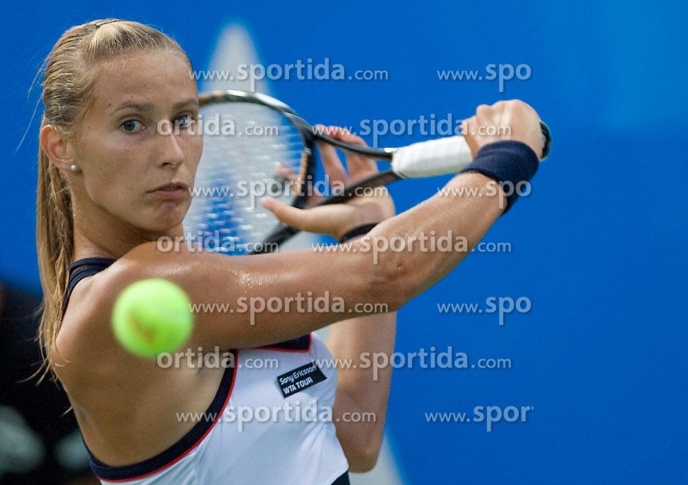 Polona Hercog of Slovenia at 1st Round of Banka Koper Slovenia Open WTA Tour tennis tournament, on July 21 2009, in Portoroz / Portorose, Slovenia. (Photo by Vid Ponikvar / Sportida)