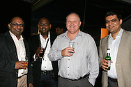 Sunil Manoharam, Alvin Naicker, Brandon Foot and Anurag Dahiya during the CLT20 live broadcast party held at the Supersport Studios in Johannesburg on the 8 September held as part of the build up to the Champions League T20 tournament being held in South Africa between the 10th and 26th September 2010..Photo by: Ron Gaunt/SPORTZPICS/CLT20