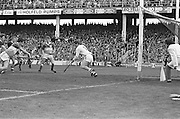 Players attempt on a goal during, Galway v Offaly, All Ireland Senior Hurling Championship Final, Croke Park, 1st September 1985.