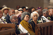 l to r: Amiri Baraka, Sonia Sanchez and Ruby Dee at the Celebration of the Life and Legacy of Dr. Barabara Ann Teer at the Memorial Service held at The Riverside Church in Harlem, NY on Monday, July 28, 2008