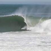 Surfing Monahan's Dock. Swell 12' at 11 secs. Sam Morrissey wave of the day.