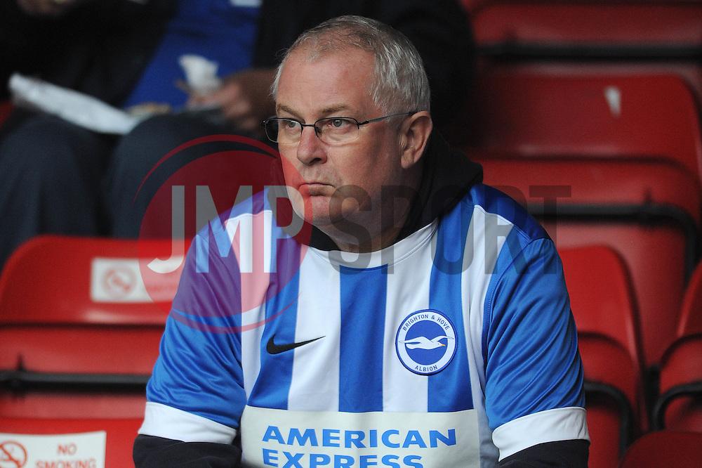 Brighton fan - Mandatory byline: Dougie Allward/JMP - 07966386802 - 25/08/2015 - FOOTBALL - Bescot Stadium -Walsall,England - Walsall v Brighton - Capital One Cup - Second Round