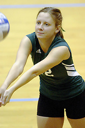 27 October 2006: Titan Jaclyn Verticchio. The Bears won the match 3 games to 1. The match between the Washington University Bears and the Illinois Wesleyan Titans took place at Shirk Center on the IWU campus in Bloomington Illinois.<br />