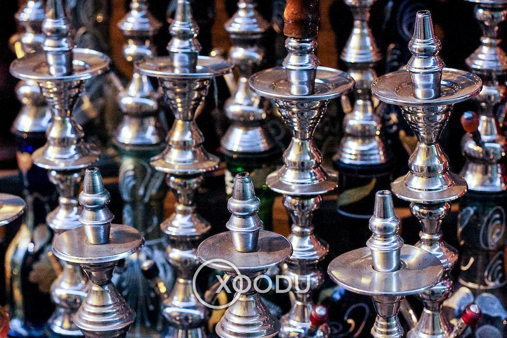 Sheesha pipes , Khan al-Khalili souq market, Cairo, Egypt (December 2007)