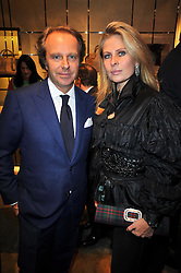 ANDREA DELLA VALLE and LADY FORTE at a party to launch the book 'Italian Touch' - A Celebration of Italian Lifestyle held at TOD's, 2-5 Old Bond Street, London on 4th November 2009.